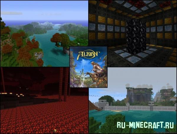 [64x64] Albion v2.42 RPG текстурпак для Minecraft v.1.8