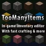 TooManyItems Mod - мод на предметы и крафты в майнкрафт