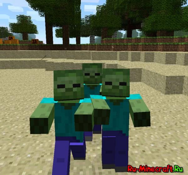 В Minecraft 1.2 будет улучшен интеллект зомби