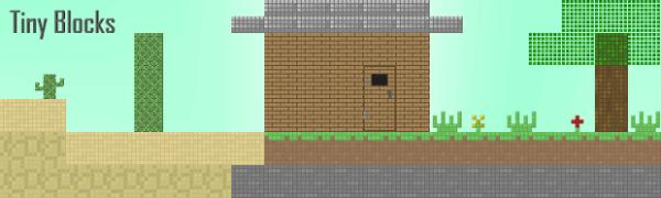 [32х][1.2.3] TinyBlocks - очень необычный текстурпак