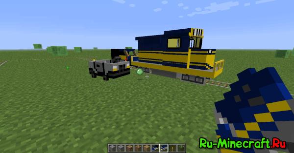 Клиент minecraft 1.2.5 с модами: поезда + автомобили