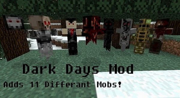 [1.2.5] Minecraft Dark Days Mod - 11 новых мобов