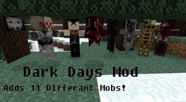 [1.2.5] Minecraft Dark Days Mod - 11 новых мобов