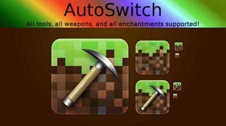 [1.4.2] AutoSwitch Mod - автоматическое переключение на нужный инструмент или оружие и обратно