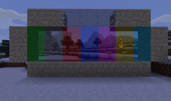 [1.2.5] Extended Glass - цветные стёкла, чистые стёкла + стёкла с различной неоновой подсветкой