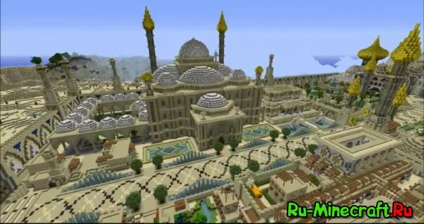 [Video] Город пустыни большая стройка в Minecraft