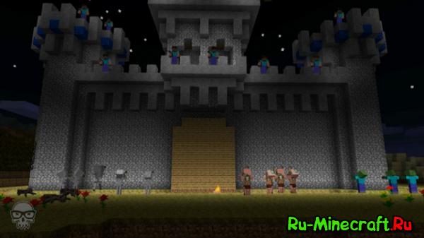 [Video] Видео о том, как люди отбивались от враждебных мобов в Minecraft!