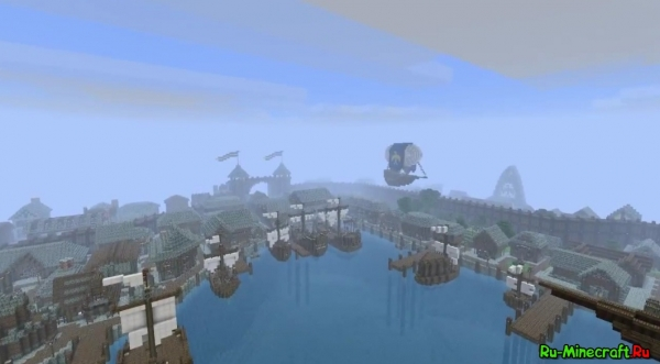 Карта с большим королевством - Aquila City