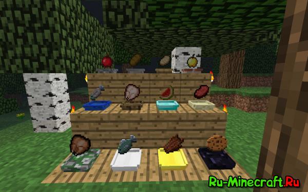 [1.2.5] Plates mod - тарелки для Minecraft