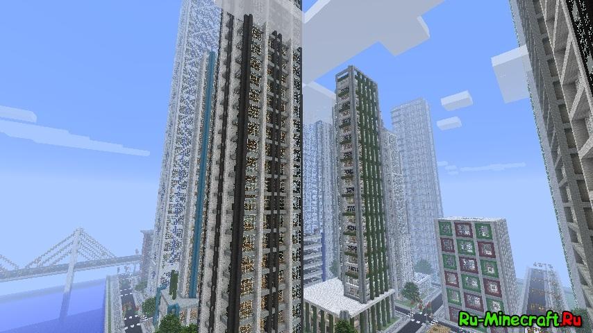 Скачать карту большой город на майнкрафт.