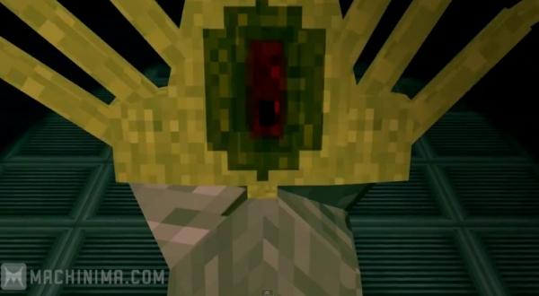 "[Video] Minecraft Alien - видео Minecraft по фильму ""Чужой"""