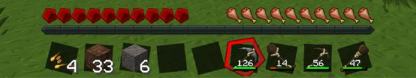 [1.2.5] UseCount Mod - мод, показывающий сколько раз осталось использовать тот или иной предмет