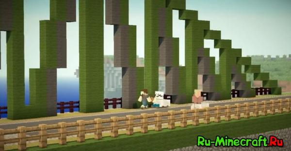 пародия на рекламу липтона (чай) в стиле Minecraft