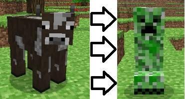 CreepiCows - Мод, который делает из коровы крипера.