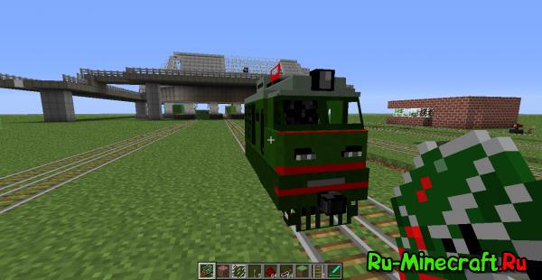Моя первая сборка клиента minecraft 1.2.5 с модом на поезда версии 2.08
