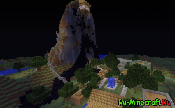 Wrath Of a God - очень большая карта для minecraft