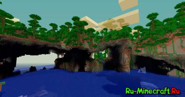 [1.2.5] Tall N' Deep Mod - красивая природа в minecraft