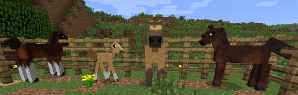[1.4.4][SMP+SSP] SIMPLY HORSES - лошадки в minecraft