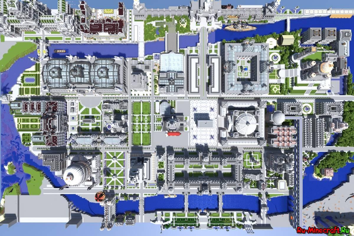 карта для майнкрафт 1.7.2 большлй город #7