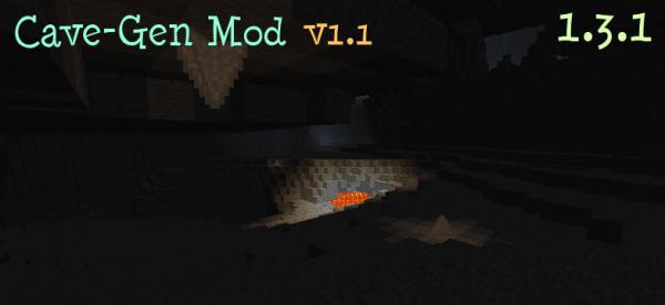 [1.3.1] Cave-Gen Mod - ОгРаМеНнЫе пещеры в minecraft.