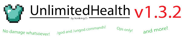 [1.1-1.3.2] UltimatedHealth - GodMode для Админов!