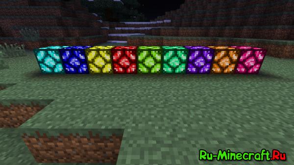 [1.3.2]ColoredRedstoneLamp - мод добавит кучу ламп разных цветов!