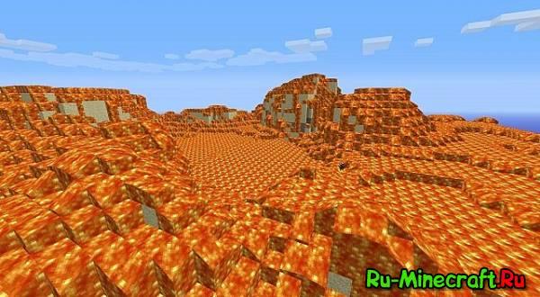 [1.3.2] Lava Desert Mod-Генерация озер лавы в обычным мире !