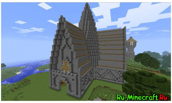 Minecraft. Строим город! Part 5 -- Церковь 2/2.