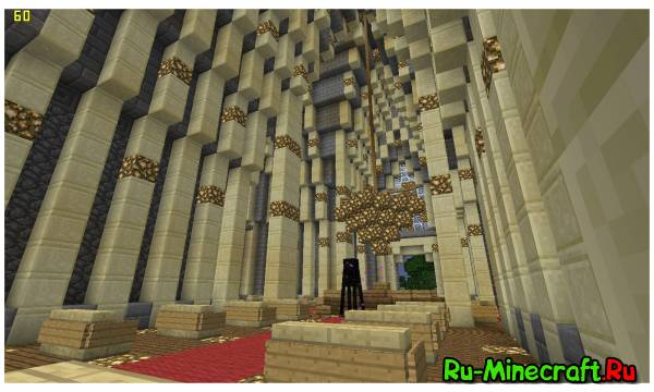 Minecraft. Строим город! Part 6 -- Церковь. Отделка изнутри