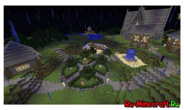 Minecraft. Строим город! Part 9 -- Центральная площадь !