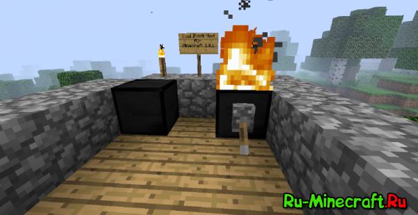 [1.3.2] Coal Block Mod - новые блоки, связанные с углём [+обзор]