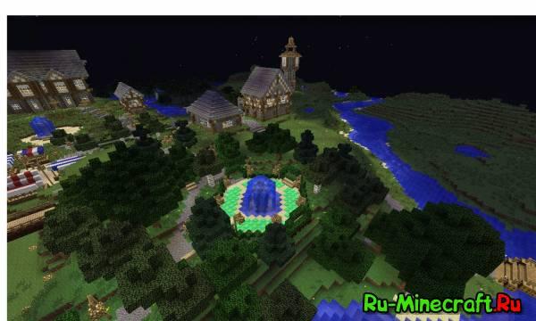 Minecraft. Строим город! Part 10 -- Парк !