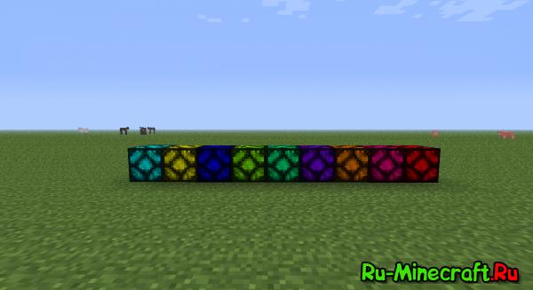 [1.3.2]Colored Redstone Lamps - Разноцветные лампы!