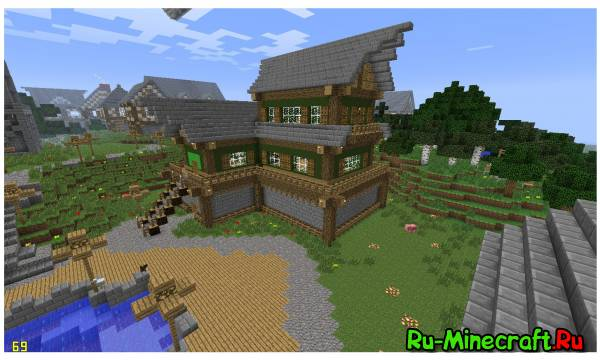 Minecraft. Строим город! Part 11 -- Таверна !