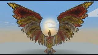 Epic Minecraft phoenix timelapse