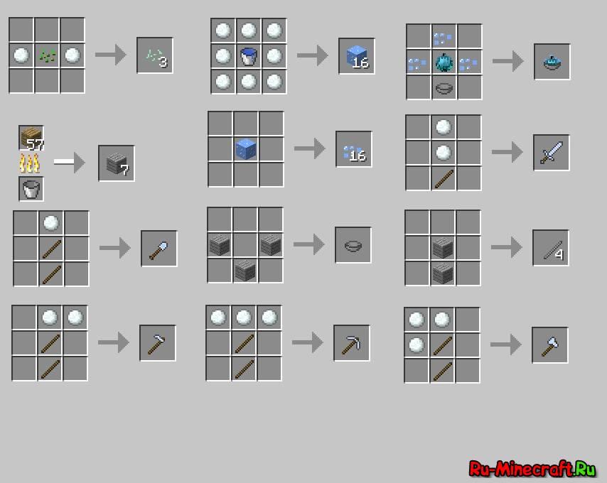 Рецепты minecraft - Всё для Майнкрафт