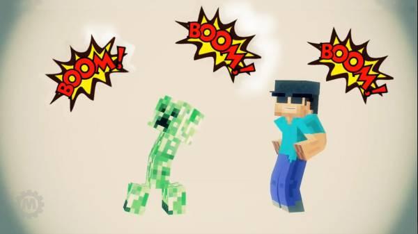[Видео] Minecraft Animation | Boom boom boom!!!