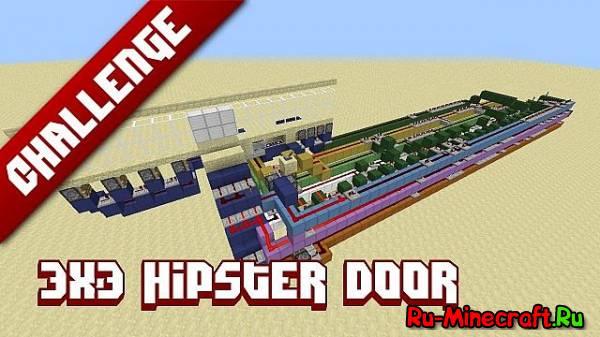 Minecraft Challenge: 3x3 Hipster door
