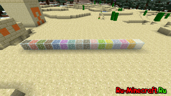[1.4.5][Forge]More Decorations - цветные блоки!