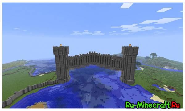 Minecraft. Строим город! Part 14 -- Морские ворота !