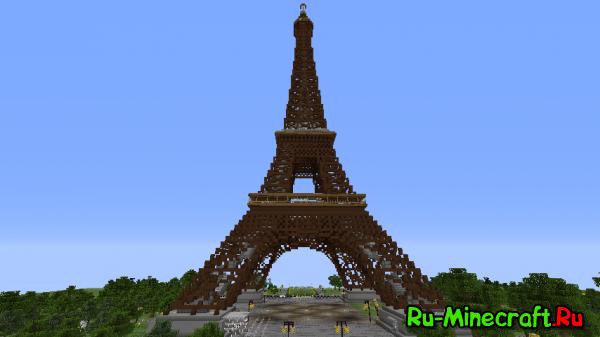 [MAP] Eiffel - эйфелева башня в minecraft