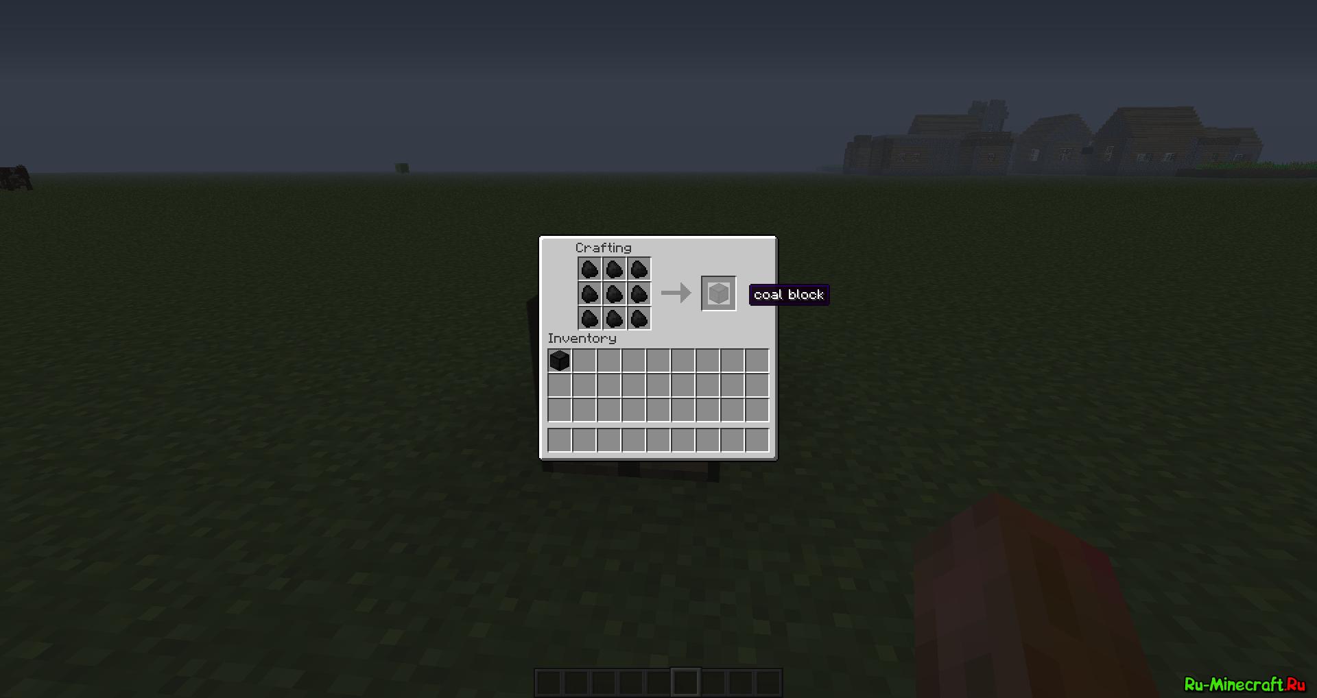 Угольный Блок в Minecraft