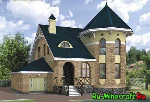 Minecraft, строим коттеджи ! Part 4.