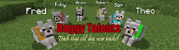 [1.4.7] Doggy Talents Mod - Тренируй Волков!