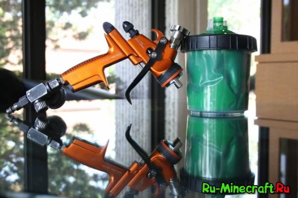 [1.4.7/1.4.6] Paint Gun mod - Раскрась свой дом, или землю :D