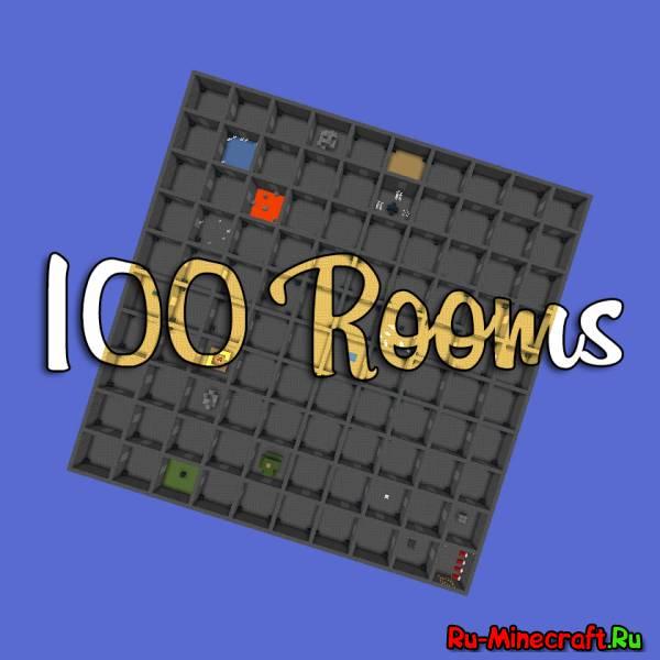 Minecraft Maps | 100 Rooms - ищем Стива