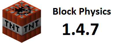 [1.4.7][FORGE]Block Physics-попробуйте построить дом