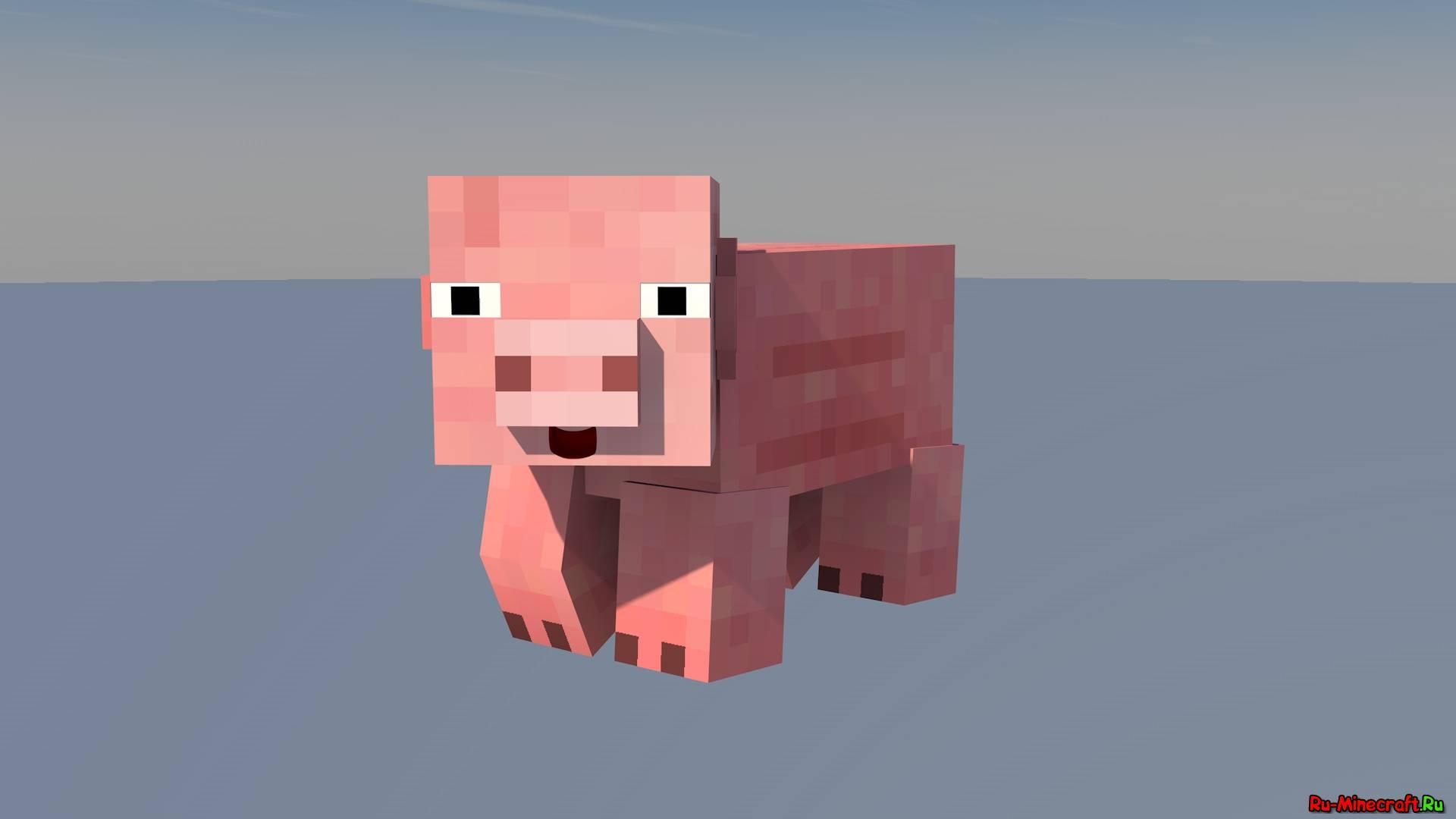 майнкрафт свинья картинка
