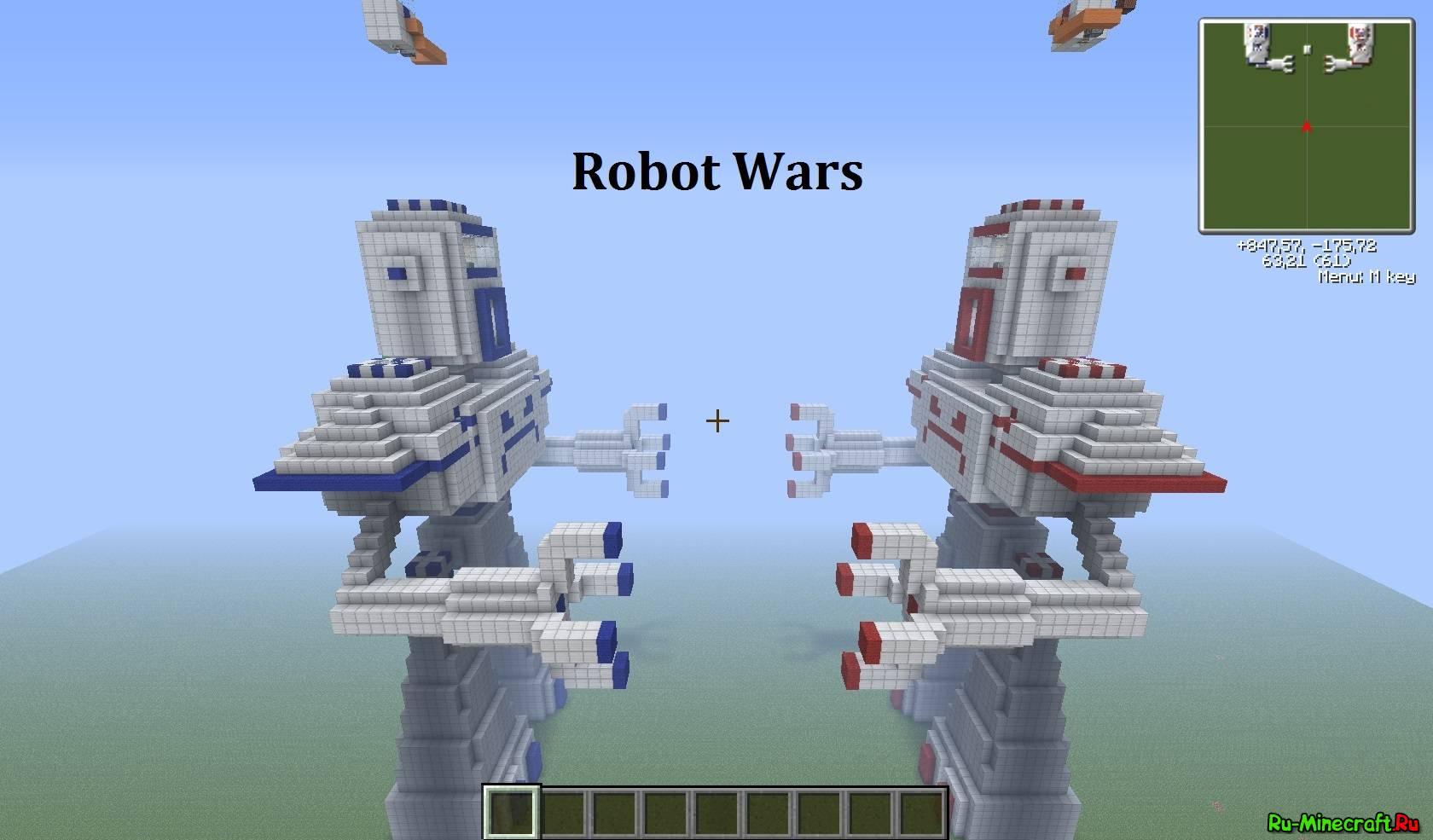 карта механический робот для майнкрафт #7