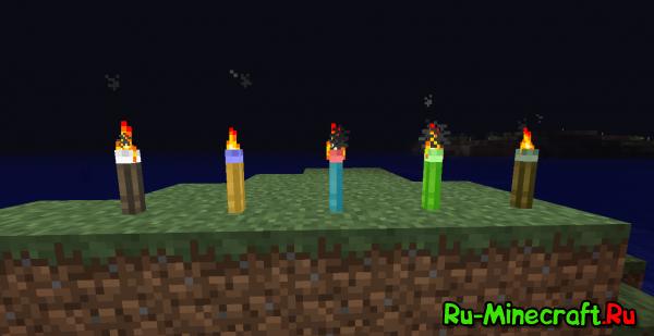 [1.4.7] Mo' Torches Mod - Больше факелов!